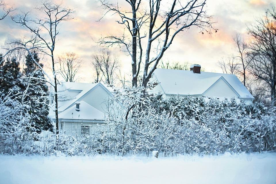 雪の 冬 家 冷 自然 クリスマス シーズン 風景 降雪 クリスマス雪