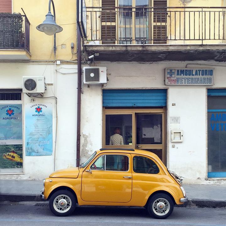 フィアット 500 車 古典的な 車両 交通 レトロ ビンテージ 小 少し イタリア