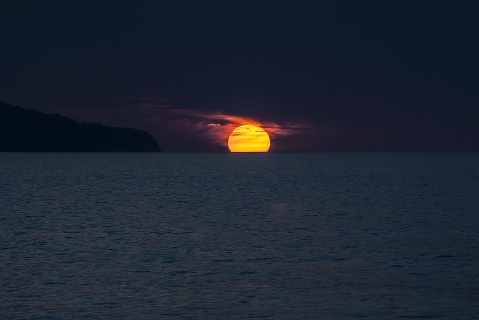 サンセット 海 アゾレス諸島 ポルトガル ソル サン ・ ミゲル 島 自然 風景 3 月