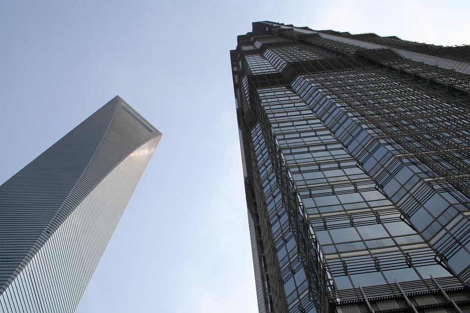 上海 中国 アジア 建物 都市の景観 スカイライン ランドマーク ビュー シーン 近代的な