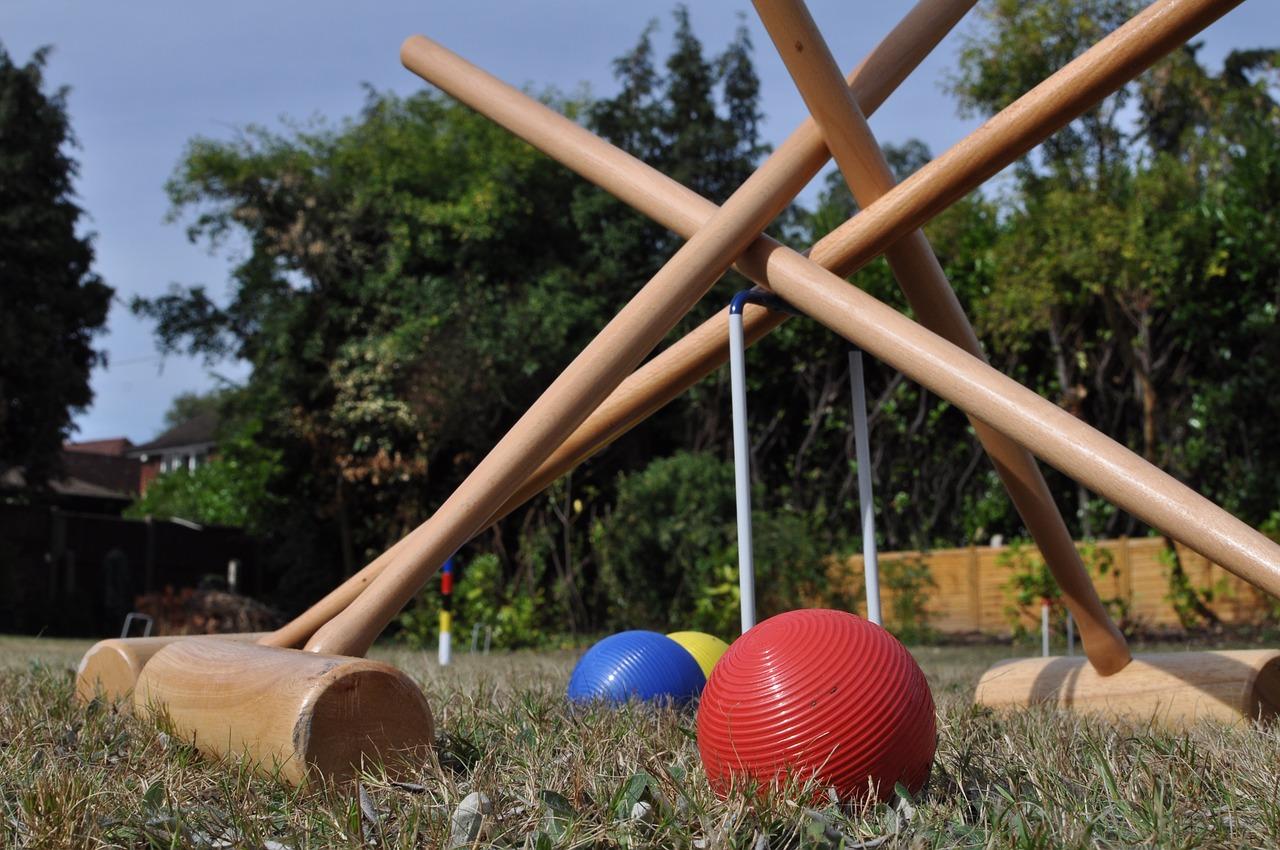 ゲートボール 庭 夏 スポーツ 祝賀会 社会 ボール 屋外