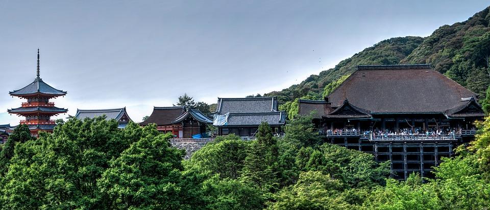 清水寺 寺 京都 日本 アジア ランドマーク 伝統的な アーキテクチャ 観光 建物 旅行