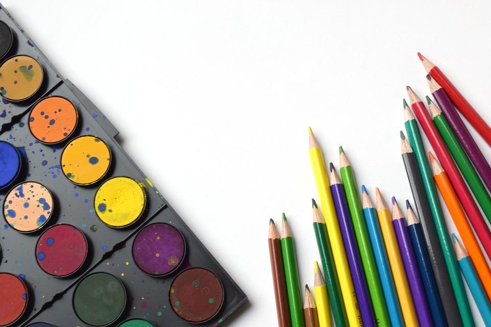 学校に戻る 鉛筆 虹 アート 学校用品 美術用品します 教育 カラフルです 描画 デザイン
