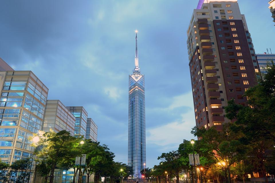 福岡 福岡タワー サンセット タワー アンテナ 日本 ラジオ