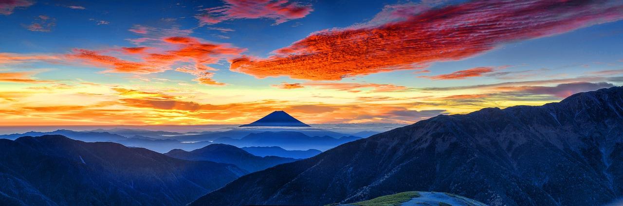 富士山 火山 日本 朝焼け 風景 日没 ミステリー 山