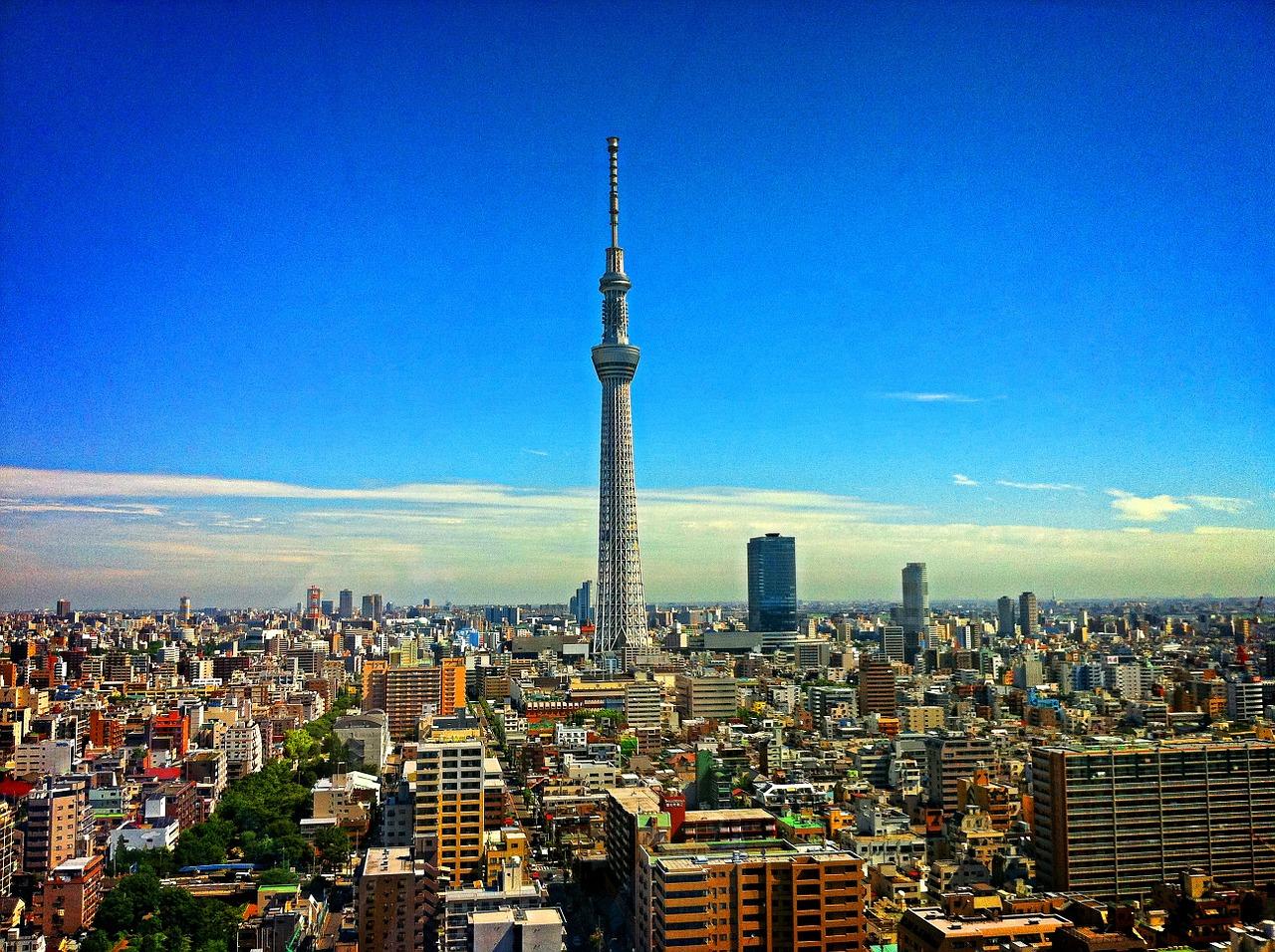 東京 スカイツリー 街 空 タワー