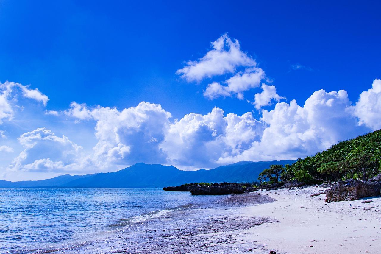 Okinawa 海 空 沖縄 日本 風景 南国 Ishigaki 青 静か 水色 癒し