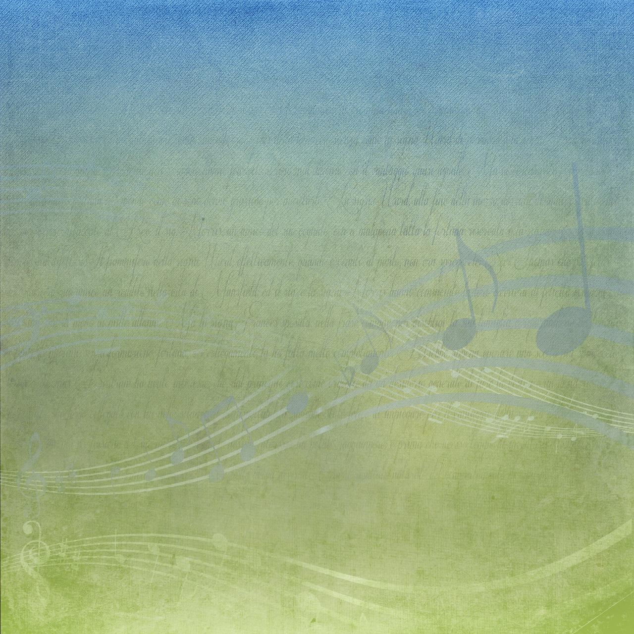 音楽 スタッフ 青 緑 スクラップ ブック メモ 音部記号 デザイン 高音 シンボル