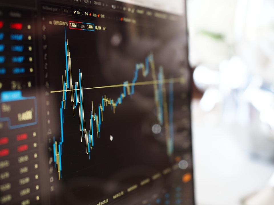 ぼかし グラフ コンピュータ データ ファイナンス 成長 光 行 証券取引所 株式市場