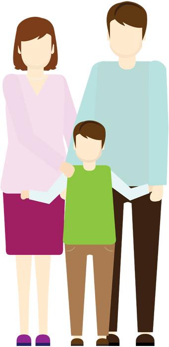 父と母と息子の三人家族