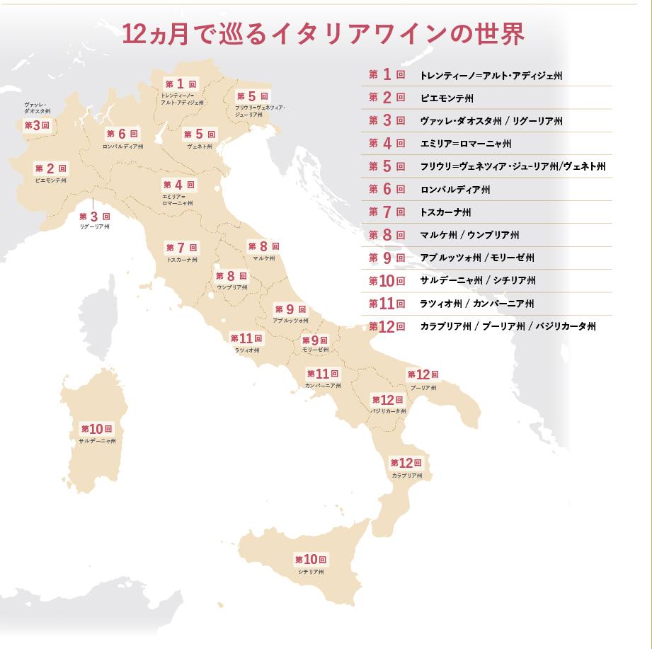 12ヶ月 イタリアワイン 旅行