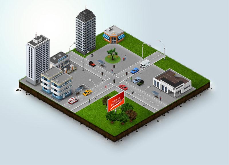 街 町 俯瞰図