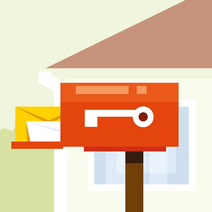 手紙が届けられた郵便受け
